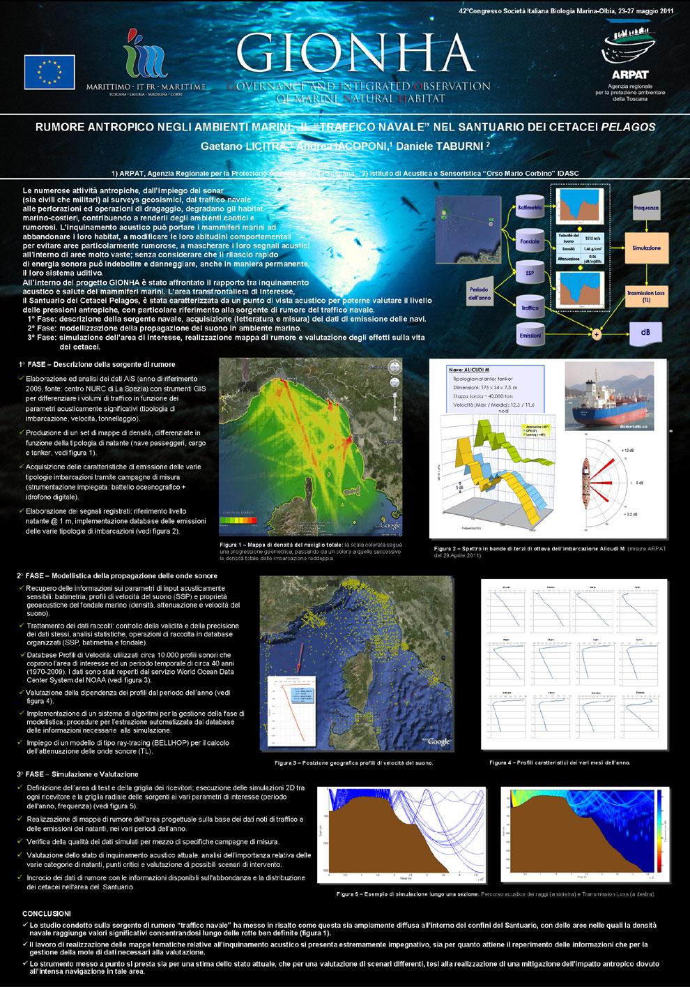Rumore antropico negli ambienti marini - poster